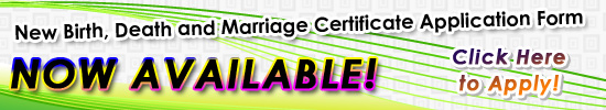 New Birth, Death and Marriage Certificates Application Form
